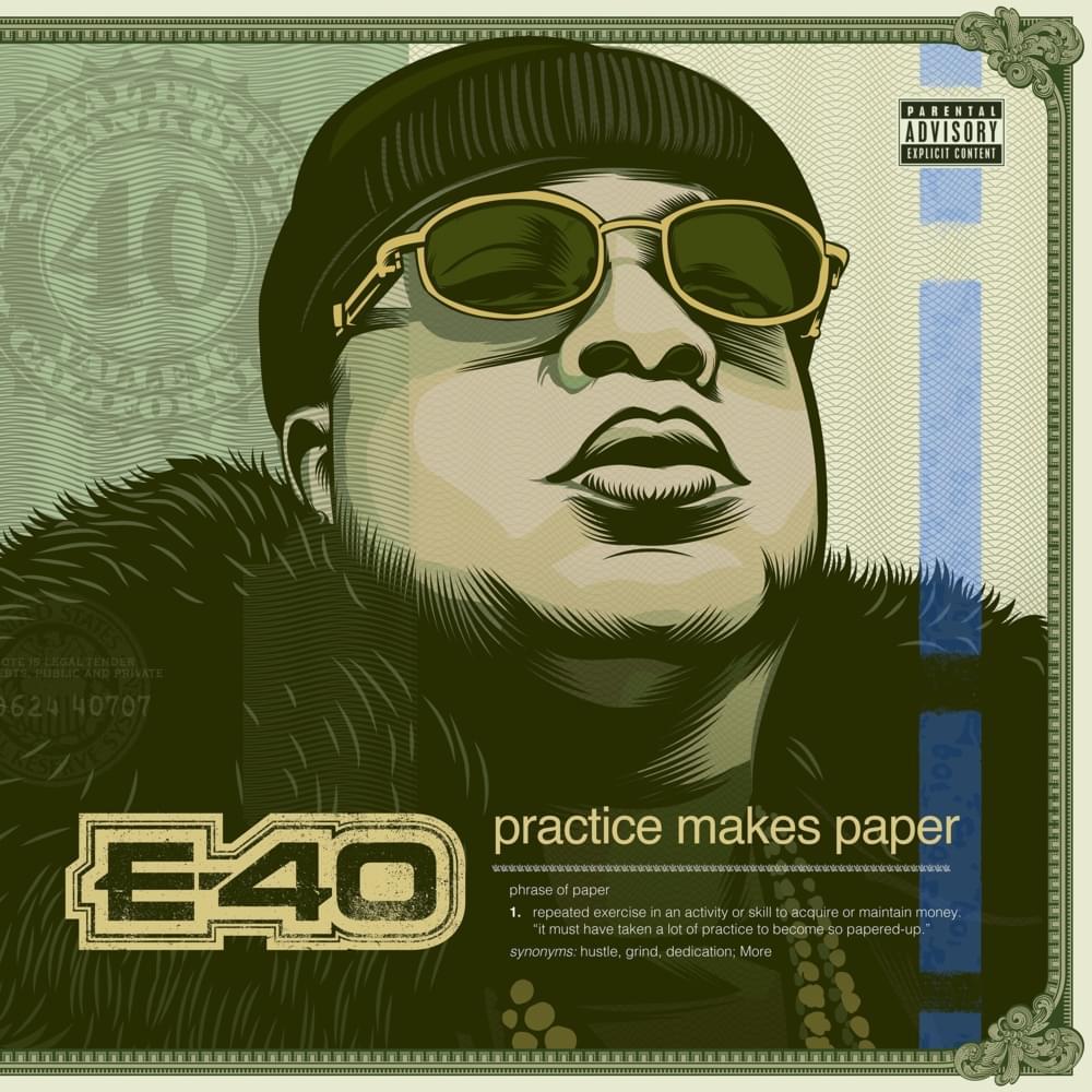 E-40 Practice Makes Paper Album Cover