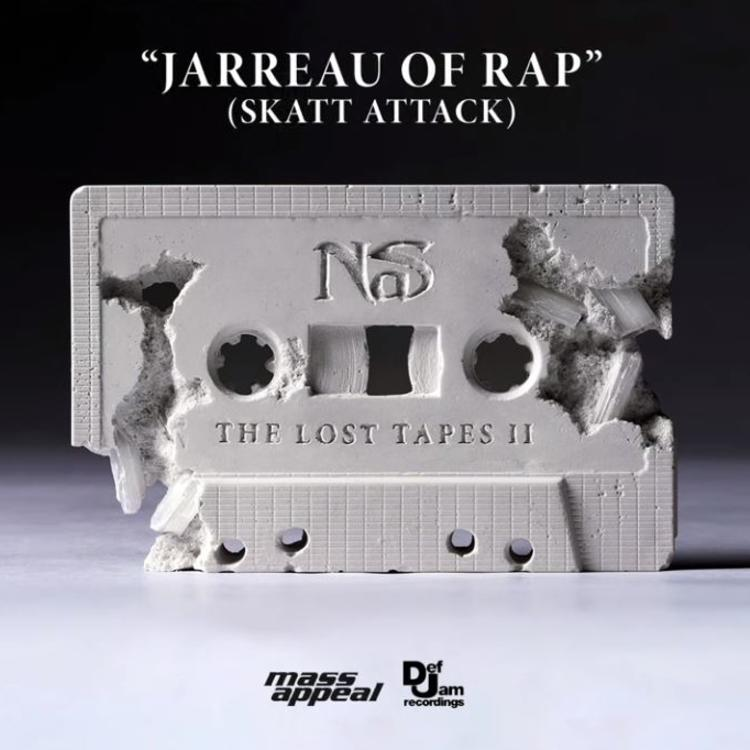"Nas Drops ""Jarreau Of Rap (Skatt Attack)"" Single Off The Lost Tapes 2 Cover Image"