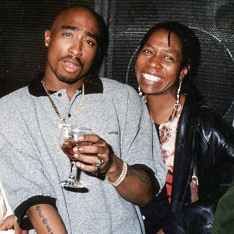 Tupac Shakur And His Mother Afeni Shakur