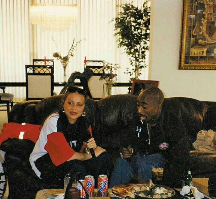 "Angie Martinez On Unreleased 2Pac Interviews: ""I Was Afraid That Someone Would Die"" Tupac and Martinez pic"